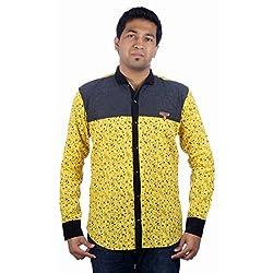 Aaduki Men's Casual Yellow Shirt-40