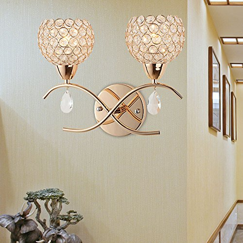 Moderne mur du salon de Lampe de chevet de mur de cristal