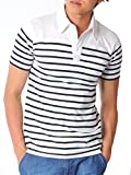 (スペイド) SPADE ポロシャツ メンズ 半袖 ボーダー チェック ウィンドペン 【e158】 (L, ボーダーホワイト)