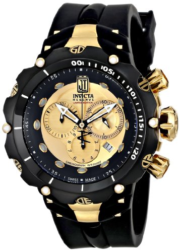 Invicta 14416 52mm Stainless Steel Case Black Polyurethane flame fusion Men's Watch