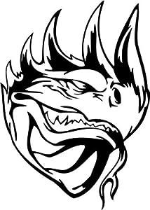 """Dragon Sticker 218 - 14"""" inch - White"""