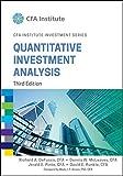 img - for Quantitative Investment Analysis (CFA Institute Investment Series) book / textbook / text book