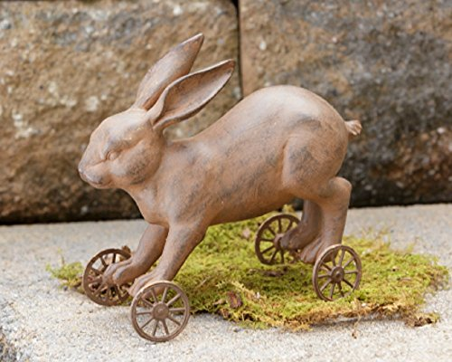 Spring Easter Decor Vintage Rolling Bunny Rabbit