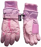 N'ice Caps Girls Thinsulate Glove with Flower Tattoo Print (4-7yrs, pink/fuchsia)