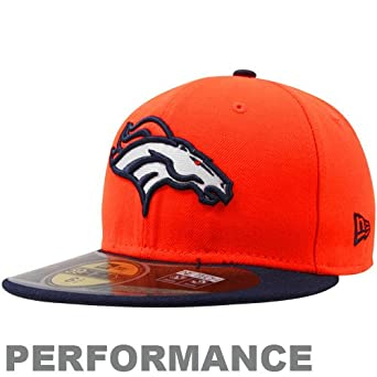 NFL Child Denver Broncos On Field 5950 Orange Game Cap By New Era by New Era