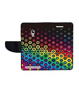 KolorEdge Printed Flip Cover For Asus Zenfone 4 A450CG Multicolor - (45KeMLogo10088Zen4A450CG)