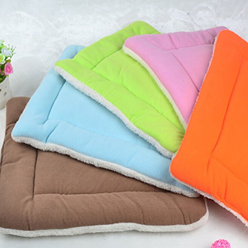 New High Quality Soft Coral Fleece Pet Cushion Dog Cat Bed Mat Sleeping House Small Size -Blue