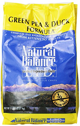 5-Pound, Green Pea & Duck Formula L.I.D. Cat Food (Natural Balance Green Pea Duck compare prices)