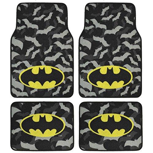 Batman Super Hero Carpet Floor Mats4 Piece Warner Brothers Licensed Products (Batman Mats Car compare prices)