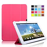 VSTN ® Acer Iconia Tab 10 A3-A20 ultra-thin Smart Cover Case with Auto Sleep / Wake Faction, Only fit Acer Iconia Tab 10 A3-A20 tablet (Smart case, Rose)