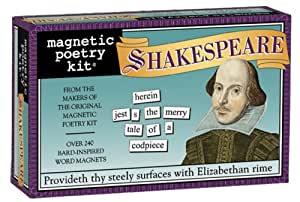Magnetic Poetry - Shakespeare Kit - Words for Refrigerator - Write Poems and Letters on the Fridge
