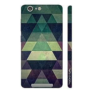 Enthopia Designer Hardshell Case Green Pyramids Back Cover for Gionee Marathon M5