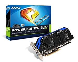 MSI NVIDIA GeForce GTX 670 OC 2GB GDDR5 2DVI/HDMI/DisplayPort PCI-Express Video Card N670 PE 2GD5/OC