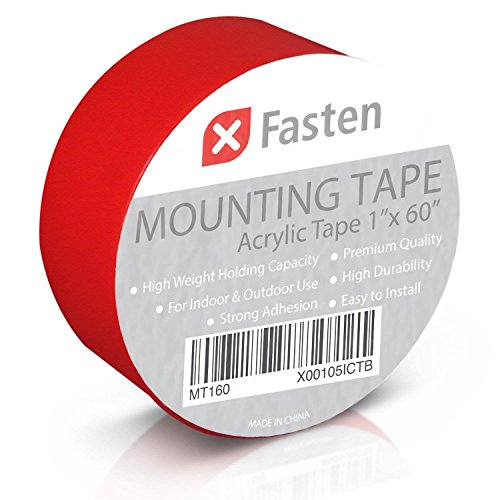 XFasten Double Sided Tape Acrylic Mounting Tape Removable, 1-Inch x 60-Inch (Double Stick Tape Removable compare prices)