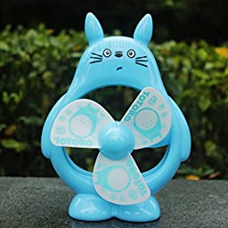 Totoro Fan Desktop Decoration Desk Ornaments Portable Mini Cartoon Small Fan Large Wind Office (5)