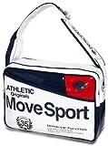 DESCENTE デサント ムーブスポーツ パンチング エナメルバッグ Mサイズ DAC-8411 (WHT-ホワイト)