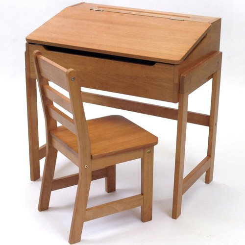 "25"" W Art Desk and Chair Finish: Pecan"