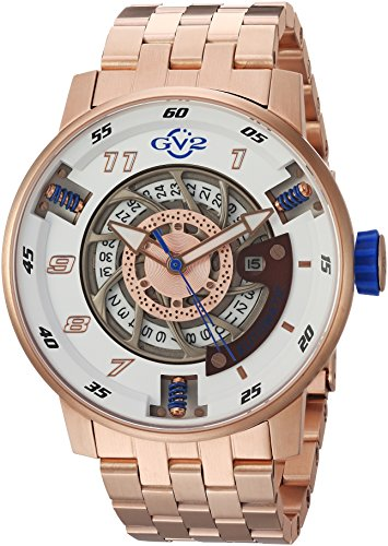 GV2-by-Gevril-Mens-Motorcycle-Sport-Automatic-Stainless-Steel-Casual-Watch-ColorRose-Gold-Toned-Model-1302B