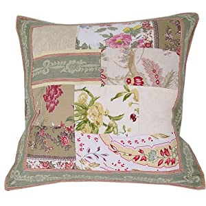 Amazon.com: French Old World Design Patchwork pillow cover with insert