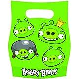 Kit de Fête anniversaire ANGRY BIRDS : 6 invitations, 6 sacs et 72 cadeaux pour les invités