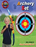 Maxi Sport Toy Archery Bow And Arrow Set With Suction Cup Arrows And Target