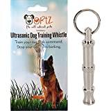 Ortz® Dog Whistle to Stop Barking - Bark Control for Dogs - Patrol Ultrasonic Sound Repellent Repeller - Silver Training Deterrent Whistle - Train Your Dog