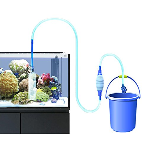 Aquarium auto siphon pump carboss fish tank cleaning water for Fish tank cleaning kit