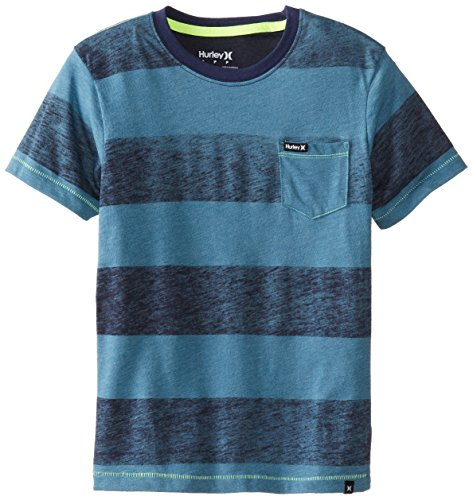 Hurley Big Boys' Swell Tee, Rift Blue Heather, Large front-436272