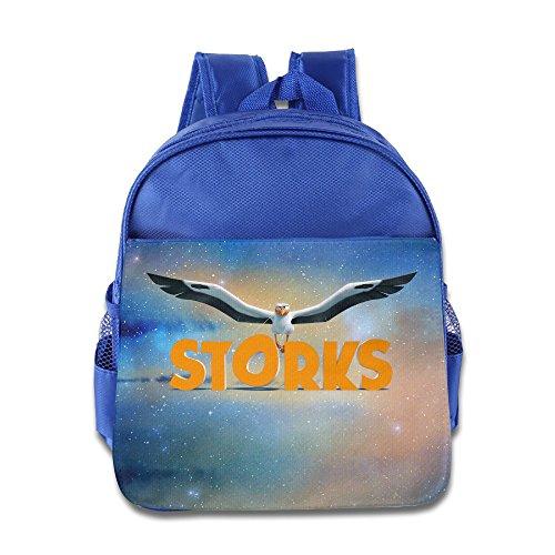 JXMD Custom Cute Storks Kids School Bagpack For 1-6 Years Old RoyalBlue