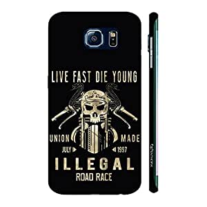 Enthopia Designer Hardshell Case Live Fast Die Young Back Cover for Samsung Galaxy S7 Edge