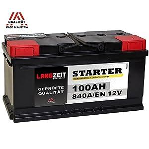 LANGZEIT Autobatterie 12V 100AH ersetzt 88Ah 90Ah 92Ah 95Ah 100Ah by LANGZEIT