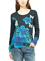 Desigual Camiseta Manga Larga (Azul)