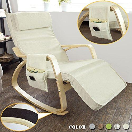 Sobuy fst18 w new relax chair rocking chair with - Sedia a dondolo per allattamento ...