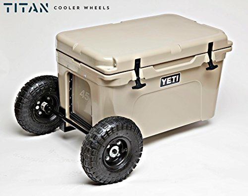 Titan Yeti Cooler Wheels Kit - Compatible with Yeti 35 and Yeti 45 - Turn Outdoor Patio Coolers into Portable Camping Equipment - Made in the USA (Electric Barrel Cooler compare prices)