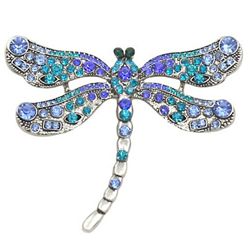 Blue/Purple Dragonfly Brooch