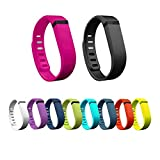 Henoda 10Pcs Replacement Bands with Clasps for Fitbit Flex Only /No Tracker (Small)