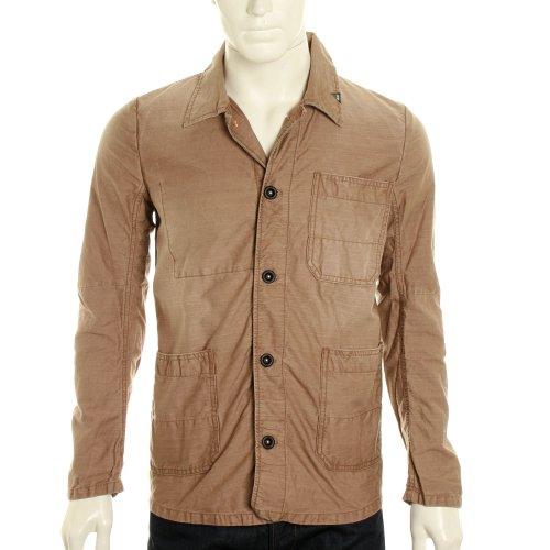 Denham Mens Mao Ut Cotton Twill Jacket - Deep Khaki - L