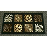 Animal Prints Door Mat 2 Ft. X 3 Ft. 8 In. Black Design #251