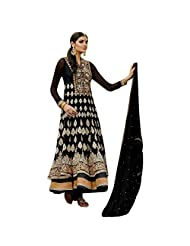 Black Pure Georgette Designer Party Wear Anarkali Salwar Kameez Semi Stitched