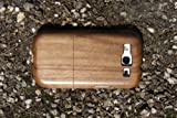 Plain Natural Walnut Wood Case for Galaxy S3 + Screen Protector