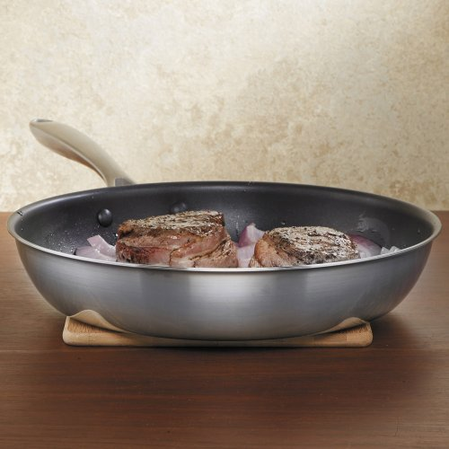 Kitchenaid Kcc12nkst Copper Core 12 Nonstick Skillet Cookware Stainless Steel Ebay