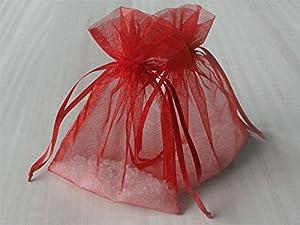 Organzasäckchen rot, 15 x 10 cm