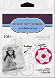 Scrapbook Adhesives by 3L Self-Adhesive Paper Photo Corners, Ivory, 108-Pack