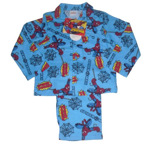 BOYS PYJAMAS SPIDERMAN 3-10 YEARS OLD LONG FLANNEL