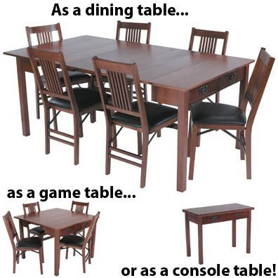 Stakmore Mission Style Expanding Dining Table Color