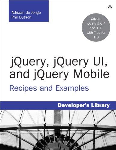 jQuery, jQuery UI, and jQuery Mobile 0321822080 pdf