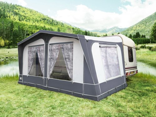 Sherwood Traditional Full Caravan Awning - 1100 - Charcoal