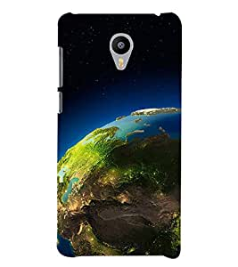 SPACE VIEW OF THE PLANET EARTH 3D Hard Polycarbonate Designer Back Case Cover for Meizu m3 note::Meizu Blue Charm Note3