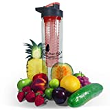 Infuser Water Bottle 28 Oz. BPA Free Fruit Infused Water Bottle For Natural Fruity Flavored Drinks. A Healthy...