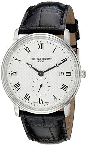 Frederique Constant FC-245M5S6 - Reloj de pulsera hombre, piel, color negro